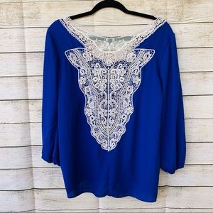 Tops - Lace back blouse